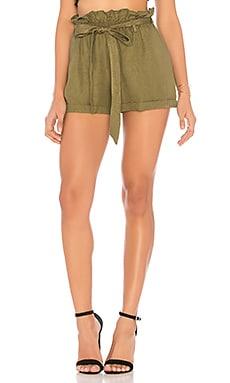 Купить Шорты paperbag waist - Chaser серовато-зеленого цвета