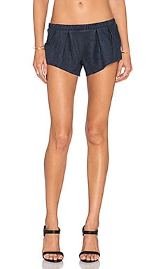 Chaser Ultra Suede Flounce Short in Avalon