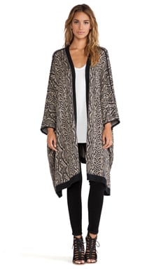 Chaser Oversized Kimono in Jungle Knit