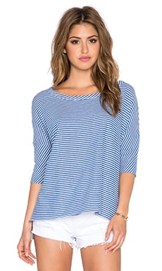 Chaser Striped Boxy Pullover in Vacation Stripe