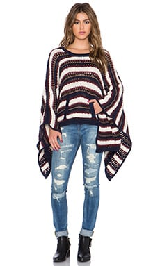 Chaser Kanga Pocket Sweater Poncho in Frontier