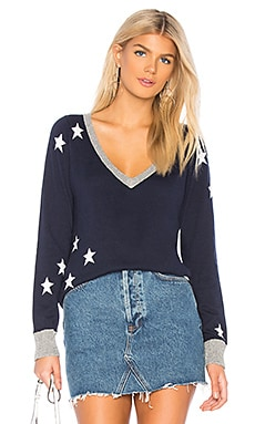 Star V Neck Sweater Chaser $99 NEW ARRIVAL