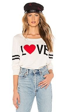 Love Crew Neck Pullover Sweater Chaser $71