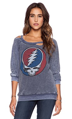 Chaser Steal Your Face Sweatshirt in Blue