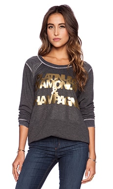 Chaser Platinum Diamonds & Champagne Sweatshirt in Black