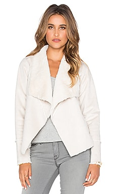 Chaser Faux Suede Jacket in Natural