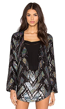Sequin Blazer in Moonage Sequin