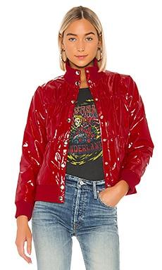 Shiny Vinyl Puffer Jacket Chaser $99