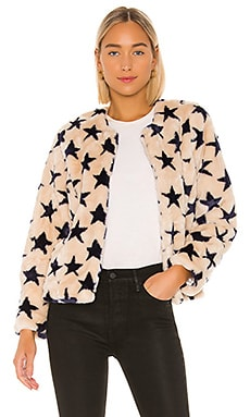 Faux Fur Collarless Jacket Chaser $128