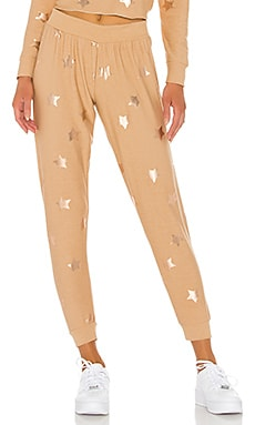 PANTALON SWEAT ROSE GOLD STAR Chaser $97