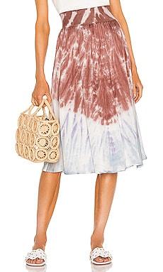 Stretch Silky Basics Rib Waist Faux Wrap Midi Skirt Chaser $108