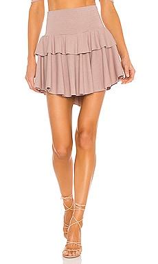 Cozy Rib Flouncy Tiered Mini Skirt Chaser $79