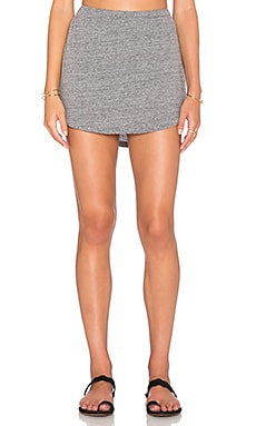 Chaser Shirttail Mini Skirt in Streaky Grey