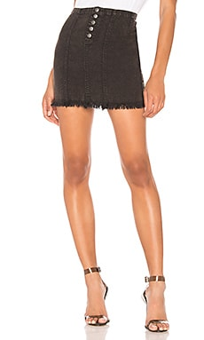 Button Front Frayed Mini Skirt Chaser $29 (FINAL SALE)