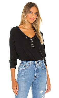 Long Sleeve Hook And Eye Henley Chaser $77