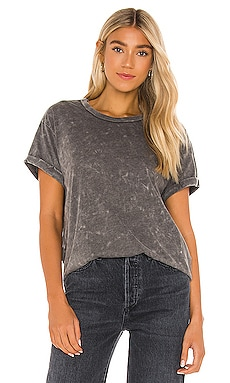 Recycled Vintage Jersey Rolled Short Sleeve Crew Neck Tee Chaser $36