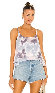 Slub Jersey Cropped Flouncy Double Scoop Cami Chaser $57