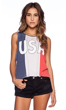 Chaser USA Tank in Red White & Blue
