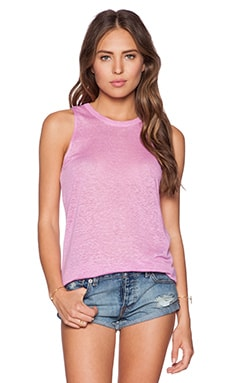 Chaser Deep V Back Muscle Tank in Sparkle Pink