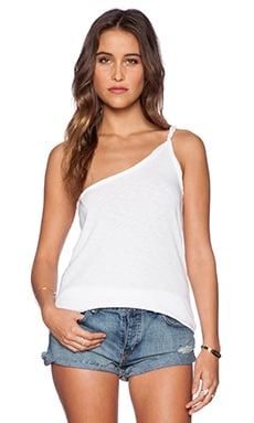 Chaser One Shoulder Tank in White