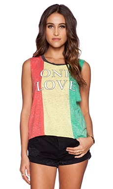 Chaser One Love Muscle Tank in Red, Yellow & Green