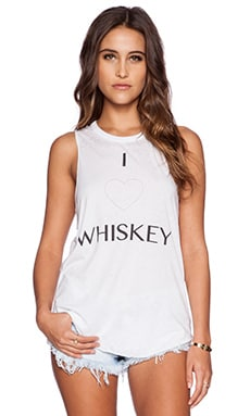 Chaser I Heart Whiskey Muscle Tank in White