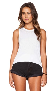 Chaser Drape Back Tank in White