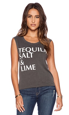 Chaser Tequila, Salt & Lime Tee in Vintage Black