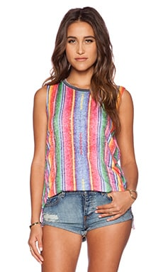 Chaser Guatemalan Blanket Muscle Tank in Multi