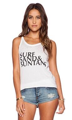 Chaser Surf, Sand & Suntans Tank in White