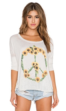 Chaser Sunflowers Tee in Antique White