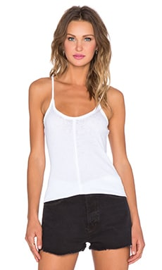 Chaser Raw Edge Rib Tank in White