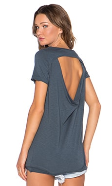 Chaser Drape Back V Neck Tee in Bonsai