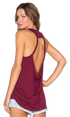 Chaser Drape Back Tank in Vino
