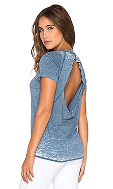 Chaser Open Back Short Sleeve Tee in Rain