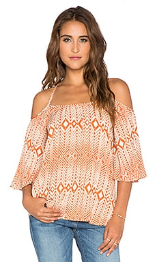 Chaser Off Shoulder Top in Scarf Print