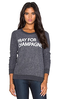 Chaser Pray For Champagne Graphic Tee in Black