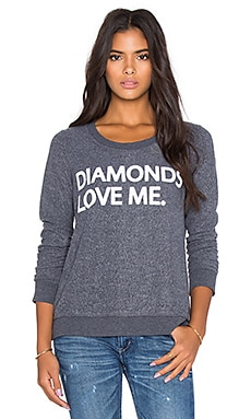 Chaser Diamonds Love Me GraphicTee in Coal