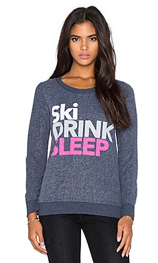 Chaser Ski Drink Sleep Graphic Tee in Avalon