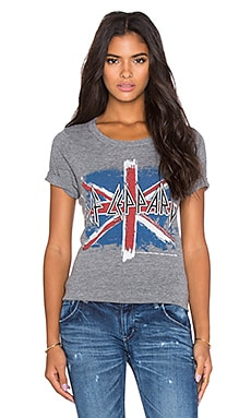 Chaser British Flag Graphic Tee in Streaky Grey