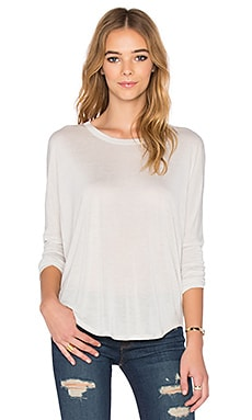 Oversized V Back Dolman Tee in Oyster