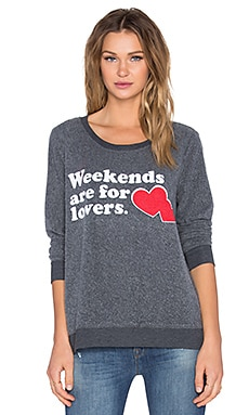 Weekend Lovers Long Sleeve Tee in Coal
