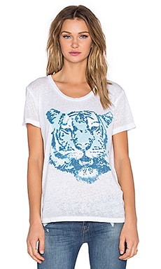 Chaser Tiger Blues Tee in White