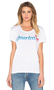 Chaser American Sweethearts Tee in White