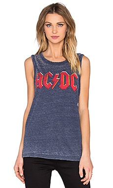 Chaser ACDC Embossed Tank in Sapphire