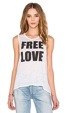 Chaser Free Love Tank in White