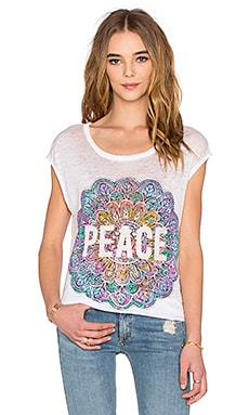 Peace Mandala Tee in White