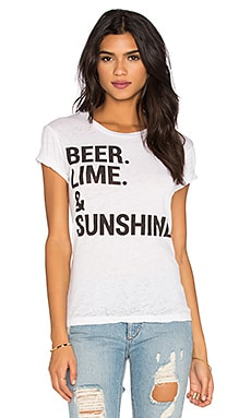 Chaser Beer Lime & Sunshine Tee in White