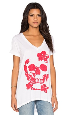 Hibiscus Skull Tee in White