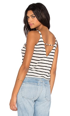 Chaser Double Strap V Back Cami in Stripes